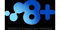 Logo van 8+
