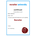 Thumbnail opleiding recruiter certificaat