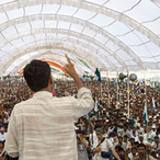 Thumbnail square 512px rajagopal speaking to 25 000 people  janadesh 2007  india